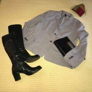 😍2/$25 Ann Taylor 2 Button Grey Jacket Sz 16 (XL)